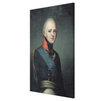 Portrait of Emperor Alexander I , 1804 Canvas Print