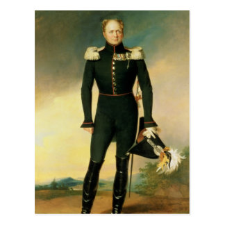 Portrait of Emperor Alexander I  1825 Postcard