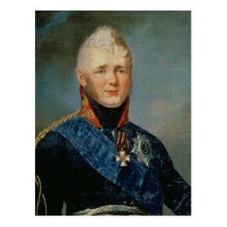 Portrait of Emperor Alexander I Postcard