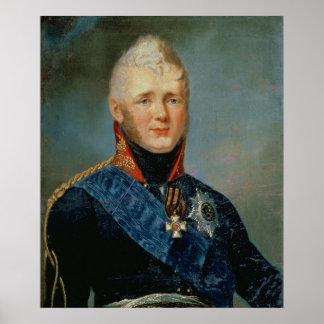 Portrait of Emperor Alexander I Poster