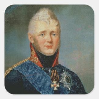 Portrait of Emperor Alexander I Square Sticker