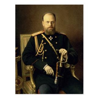 Portrait of Emperor Alexander III  1886 Postcard