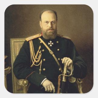Portrait of Emperor Alexander III  1886 Square Sticker