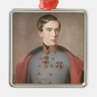 Portrait of Emperor Franz Joseph of Austria Metal Ornament