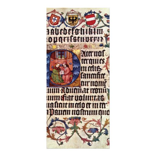 Portrait Of Emperor Maximilian I And His Teacher B Rack Card Template