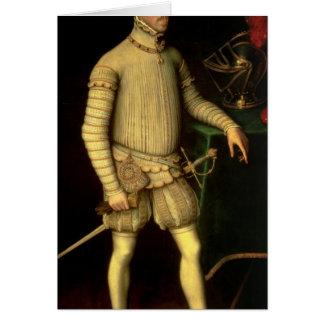 Portrait of Emperor Maximilian II  1557 Card