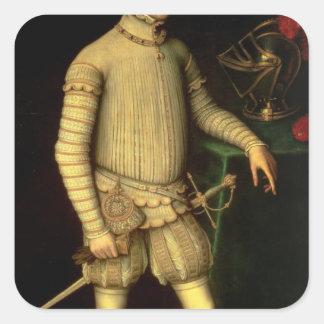 Portrait of Emperor Maximilian II  1557 Square Sticker