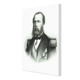 Portrait of Emperor Maximilian of Mexico, 1864 Gallery Wrap Canvas