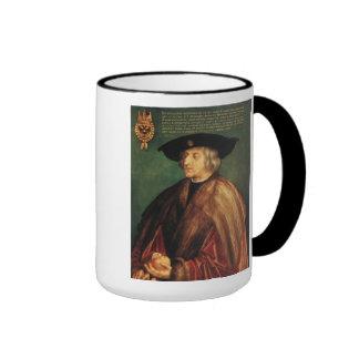 'Portrait of Emperor Maximillian I' Ringer Coffee Mug