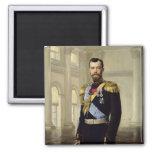 Portrait of Emperor Nicholas II, 1900 2 Inch Square Magnet