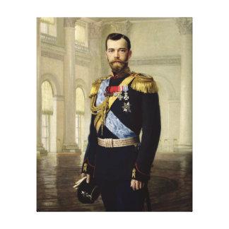 Portrait of Emperor Nicholas II, 1900 Canvas Print