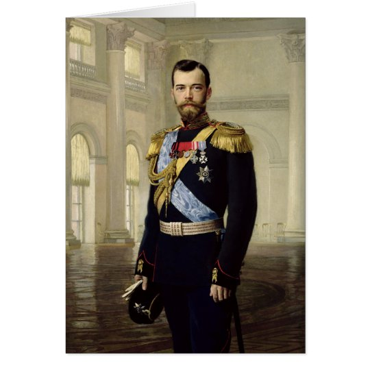 Portrait of Emperor Nicholas II, 1900 Card