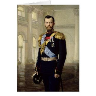 Portrait of Emperor Nicholas II, 1900 Greeting Card