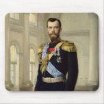 Portrait of Emperor Nicholas II, 1900 Mouse Pad