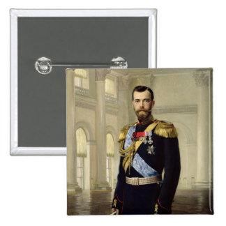 Portrait of Emperor Nicholas II, 1900 Pinback Button