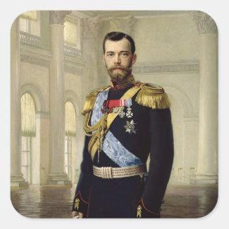 Portrait of Emperor Nicholas II, 1900 Square Sticker
