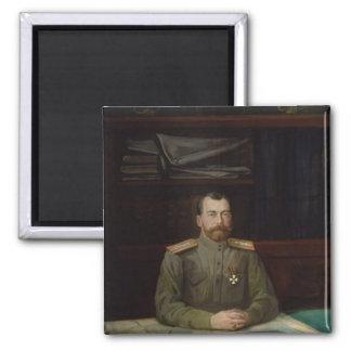 Portrait of Emperor Nicholas II, 1914 2 Inch Square Magnet