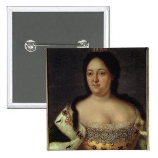 Portrait of Empress Anna Ioannovna 2 Inch Square Button