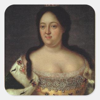 Portrait of Empress Anna Ioannovna Square Sticker