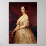 Portrait of Empress Eugenie  1854 Poster