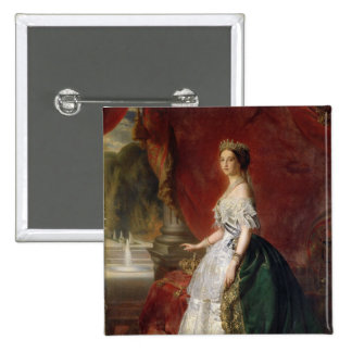 Portrait of Empress Eugenie of France Button