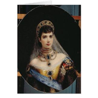 Portrait of Empress Maria Fyodorovna Greeting Card