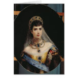 Portrait of Empress Maria Fyodorovna Greeting Card