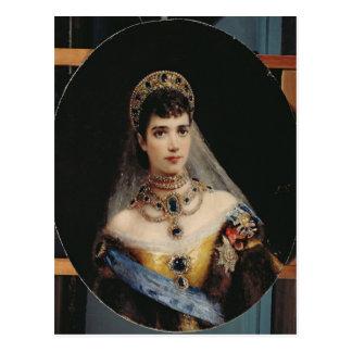 Portrait of Empress Maria Fyodorovna Postcard