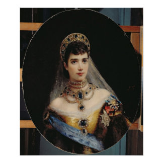 Portrait of Empress Maria Fyodorovna Poster