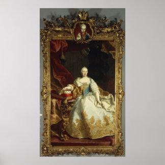 Portrait of Empress Maria Theresa Poster