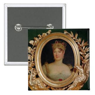 Portrait of Empress Marie-Louise  of Austria 2 Inch Square Button