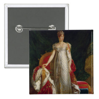 Portrait of Empress Marie Louise  of France 2 Inch Square Button