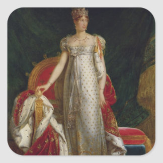 Portrait of Empress Marie Louise  of France Square Sticker