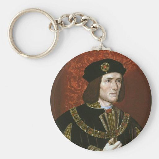 Portrait of English King Richard III Basic Round Button Keychain