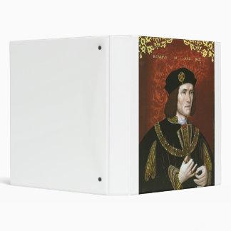 Portrait of English King Richard III 3 Ring Binder