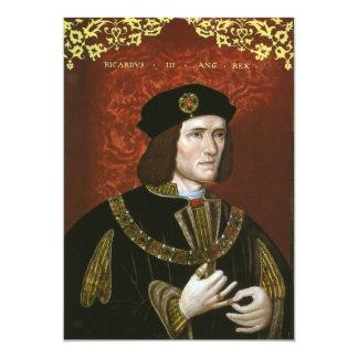 Portrait of English King Richard III Custom Invitations