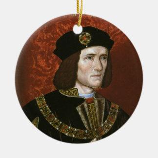 Portrait of English King Richard III Christmas Tree Ornaments