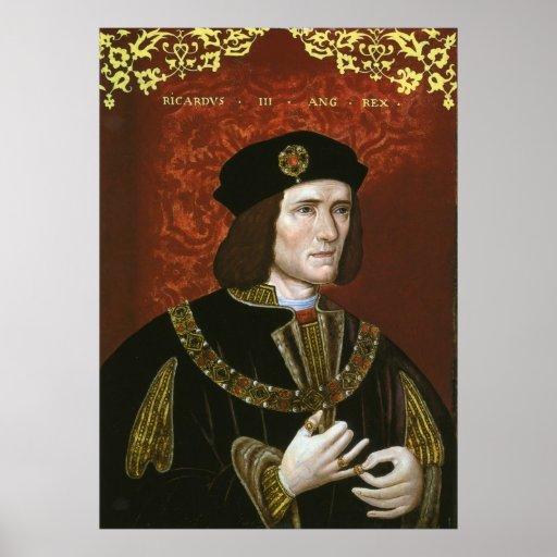 Portrait of English King Richard III Posters