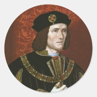 Portrait of English King Richard III Round Stickers