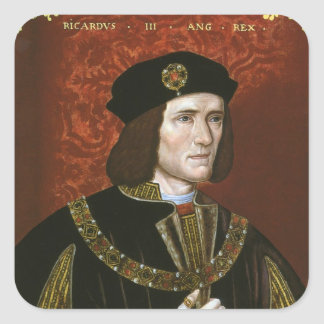 Portrait of English King Richard III Stickers