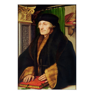 Portrait of Erasmus, 1523 Poster