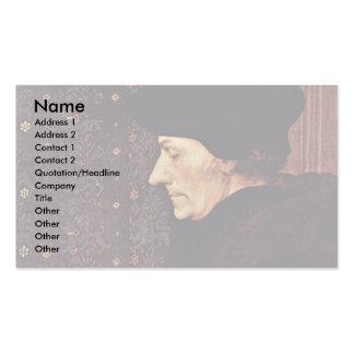 Portrait Of Erasmus Of Rotterdam Business Card Templates