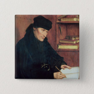 Portrait of Erasmus of Rotterdam Button