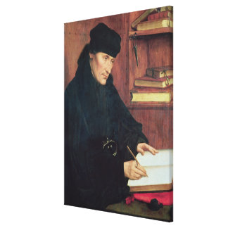 Portrait of Erasmus of Rotterdam Gallery Wrapped Canvas
