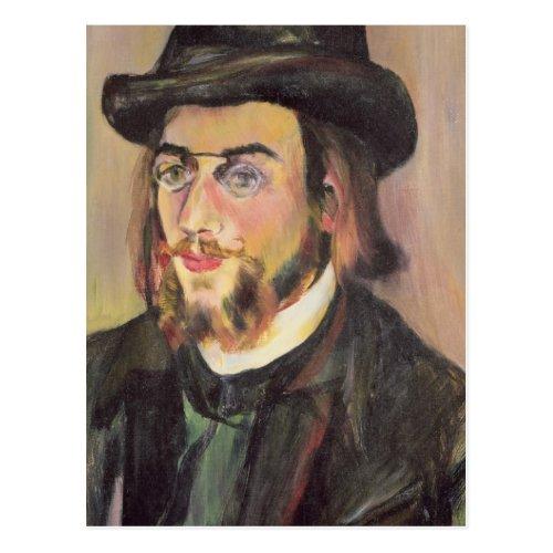 Portrait of Erik Satie  c1892 Postcard