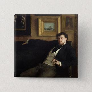 Portrait of Ernest Duez  1876 Pinback Button