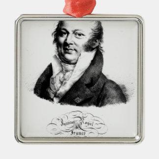 Portrait of Etienne Geoffroy Saint-Hilaire Metal Ornament