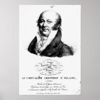 Portrait of Etienne Geoffroy Saint-Hilaire Poster