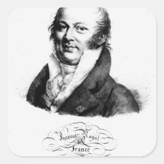 Portrait of Etienne Geoffroy Saint-Hilaire Square Sticker