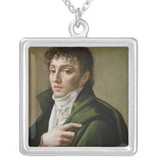 Portrait of Etienne-Henri Mehul  1799 Square Pendant Necklace